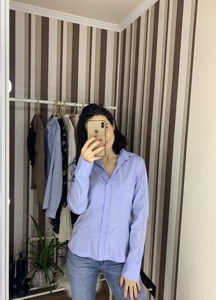 Базовая деловая офисная рубашка hugo boss  оригинал с замочками замками