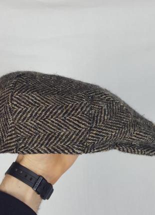 Твидовая кепка жиганка  barbour