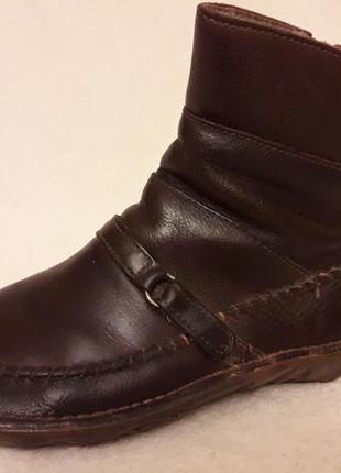 Кожаные ботинки на широкую ножку фирмы el naturalista p. 39 стелька 25,5 см