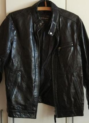 Кожаная мужская куртка косуха на размер 52-54
