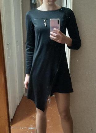 Платье с молниями