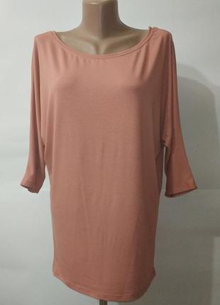 Персиковая блуза с кружевной спинкой bershka uk 12/40/m