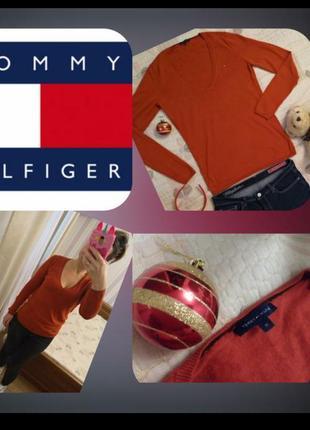 Распродажа до 17..02🌹трикотажный свитер, джемпер, на с,м, tommy hilfiger, люкс