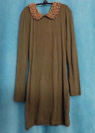 Нова сукня amisu кольору хакі
