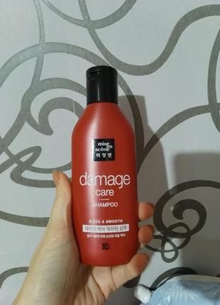Восстанавливающий шампунь для волос с арганией и пчелиным молочком mise en scene