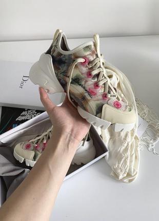 Dior d-connect sneakers шикарные женские кроссовки диор