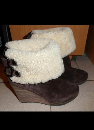 Зимние натуральные сапоги, ботинки sharman замша 37 размер новые