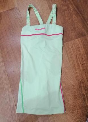 Салатовое спортивное платье от babolat
