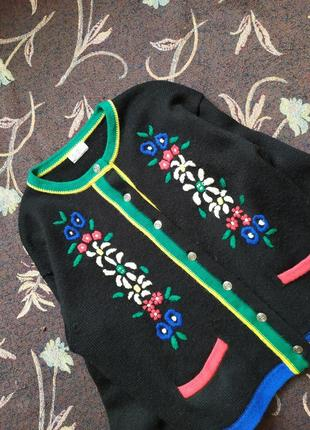 Шерстяной теплый кардиган  / свитерок кофта свитер / теплий в'язаний светр / жакет пиджак
