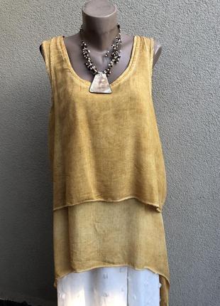 Комплект двойка,блуза,туника ассиметрия,майка,жилетка,этно бохо стиль,штапель-вискоза