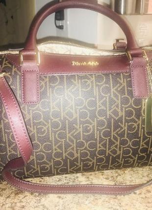 Деловая женская сумка на плече оригинал calvin klein с сша