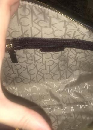 Деловая женская сумка на плече оригинал calvin klein с сша3 фото