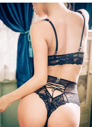 Эротическое бельё кружевные трусики на шнуровке трусы секси трусики эротические трусы