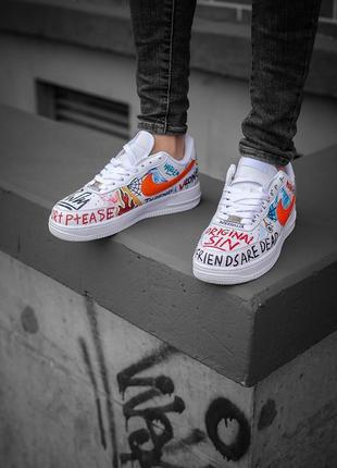 Nike air force 1 low шикарные мужские кроссовки найк белые