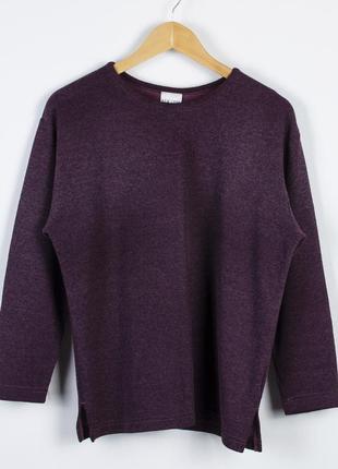Оверсайз свитер бордовый, теплый свитер однотонный, женский пуловер оверсайз