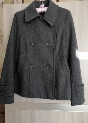 Полупальто пиджак, новый, шерсть!