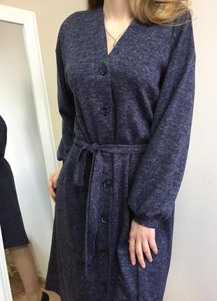 Трендовое трикотажное платье