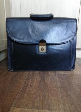 Портфель сумка кожаная деловая