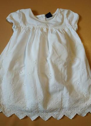 Батистовое белое платье