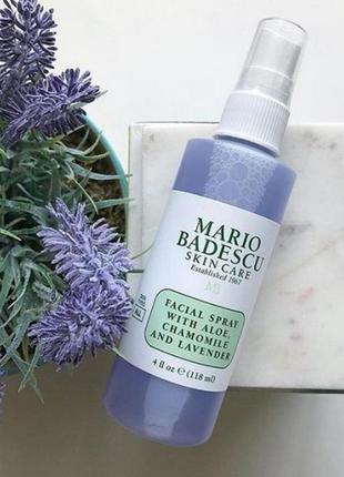 Mario badescu with aloe, chamomile and lavender facial spray спрей для лица 118 мл