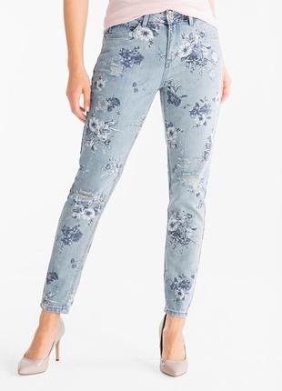 Фирменные рваные джинсы girlfriend jeans