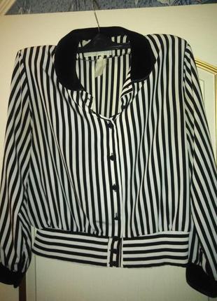 Французская стильная блуза 50 р.