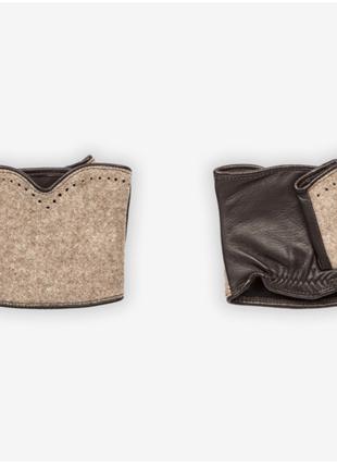 Новые митенки немецкого бренда roeckl. кожа+шерсть