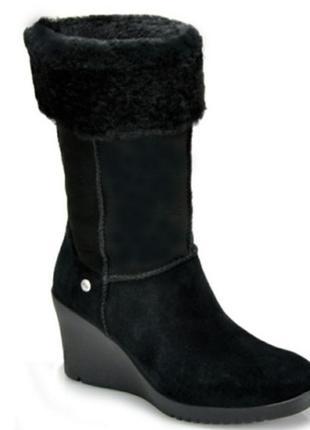 Ugg australia.шикарные мягкие теплые бренд.сапоги,кожа,овчина,танкетка