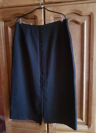 ❤базовая чёрная юбка миди большой размер (р.20)❤