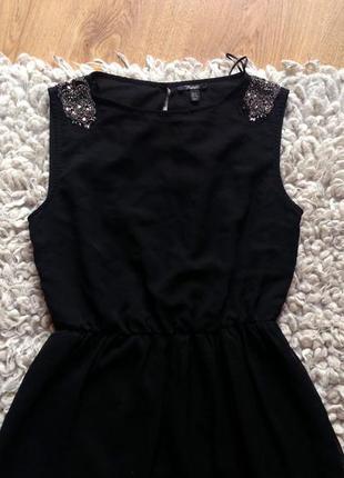 Новогоднее чёрное платье zara