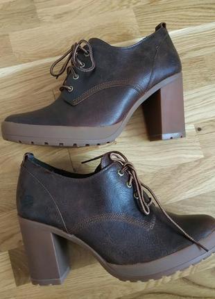 Шикарные женские туфли ботинки timberland.
