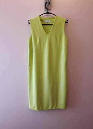 Платье цвета лайм, cалатовое платье next, р. 36