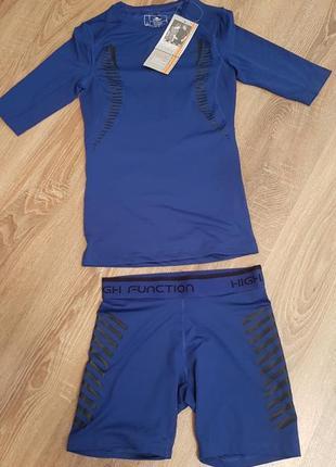 Спорткостюм, тренировочный костюм, фитнес , велоспорт, шорты, рашгард