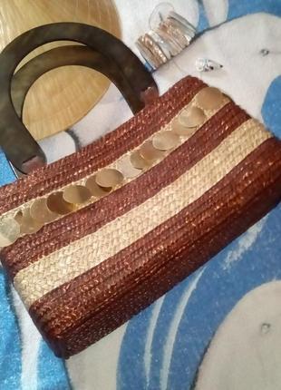 """#summer sale! плетеная сумка из соломки с """"монетками"""" в стиле бохо"""