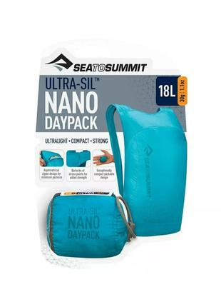 Рюкзак складной sea to summit - ultra-sil nano daypack teal, 18 л