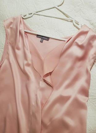 Нежный топ с драпировкой бледно розового цвета от laura ashley. размер l (50)