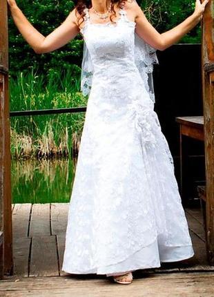 Свадебное платье а-силуэт размер 44 46 48 50