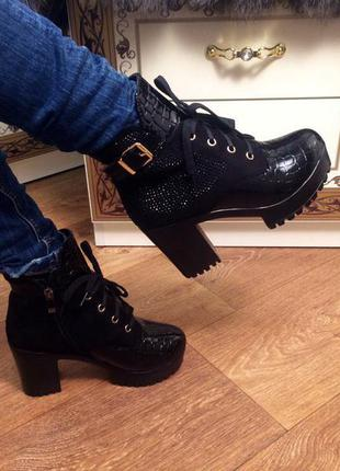Стильные ботиночки размеры 39 и 40