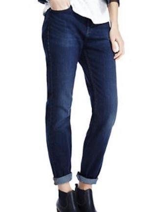 Синие прямые джинсы m&s straight leg