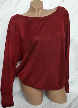 🔥ликвидация товара🔥базовый легкий свитер насыщенного цвета бордо от zara size m