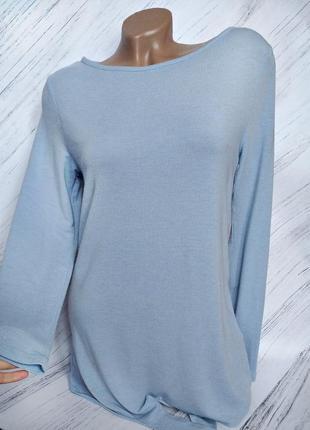 🔥ликвидация товара🔥приятный на ощупь светло голубой легкий свитер от george size 8