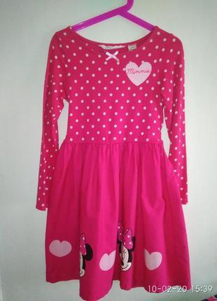 Платье с минни 6-8 лет