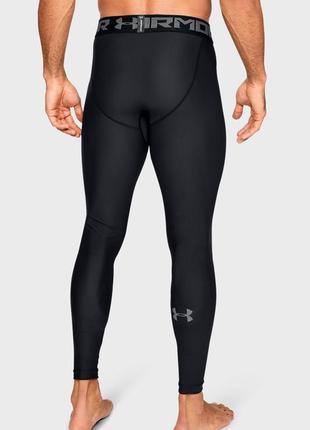 Мужские черные тайтсы леггинсы heatgear under armour размер м 46-48р