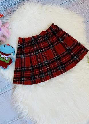 Фирменная тёплая юбка next малышке 3-4 года