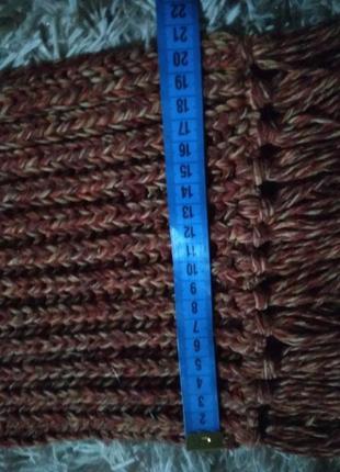Очень теплый приятный к телу шарф вязка крупная-xxs xs s