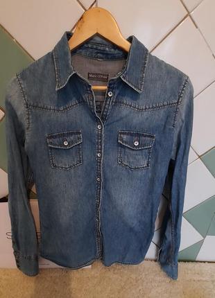 Джинсовая рубашка от marc o'polo