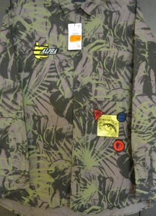 Рубашка oversize fit-камуфляж-польша 100%коттон