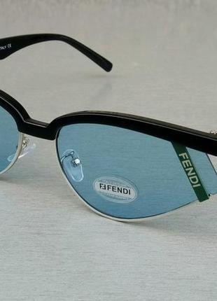Fendi очки женские солнцезащитные голубые