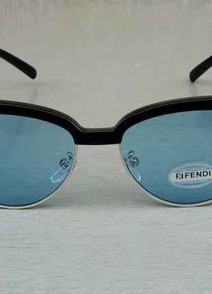 Fendi очки женские солнцезащитные голубые2 фото