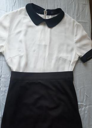 Шикарная белая блуза с интересным воротником